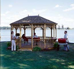 SAMPLE Gazebo Plans 08, 10x16 ft Hexagon Gazebo, IMMEDIATE DOWNLOAD