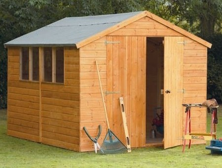 SAMPLE Shed Plans 03, 10x8 Gable Shed, Medium Size Shed, DOWNLOAD