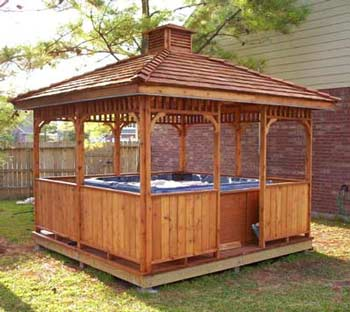 SAMPLE Gazebo Plans 13, 12 ft Square, Hip Roof Gazebo, IMMEDIATE DOWNLOAD