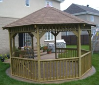 SAMPLE Gazebo Plans 12, 12 ft Octagon Gazebo, IMMEDIATE DOWNLOAD