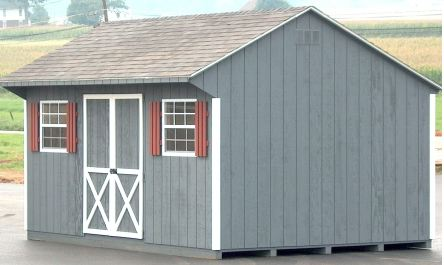 SAMPLE Shed Plans 25, 12x16 Saltbox Roof, Large Shed, DOWNLOAD