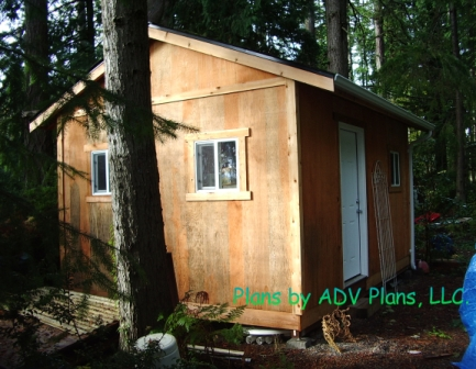 SAMPLE Shed Plans 09, 12x16 Gable Shed, Large Size Shed, DOWNLOAD