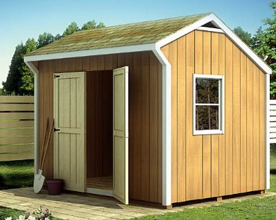 SAMPLE Shed Plans 23, 6x8 Saltbox Roof, Small Shed, DOWNLOAD