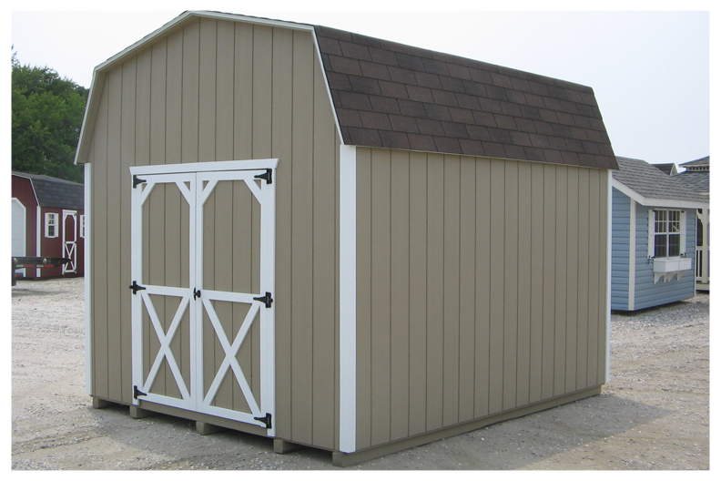 SAMPLE Shed Plans 16, 8x10 Gambrel Roof, Medium Shed, DOWNLOAD