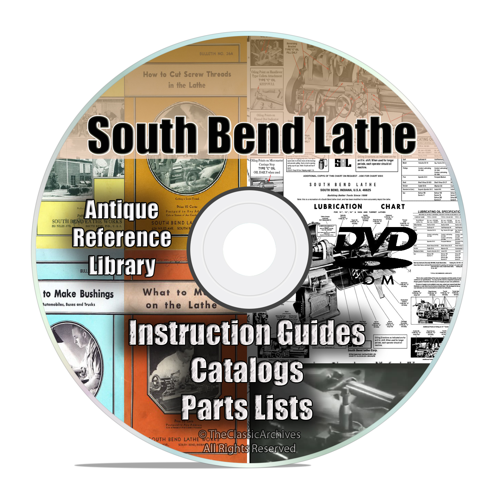 South Bend Lathe Reference Books, Parts List, Automechanic Shop Manuals DVD