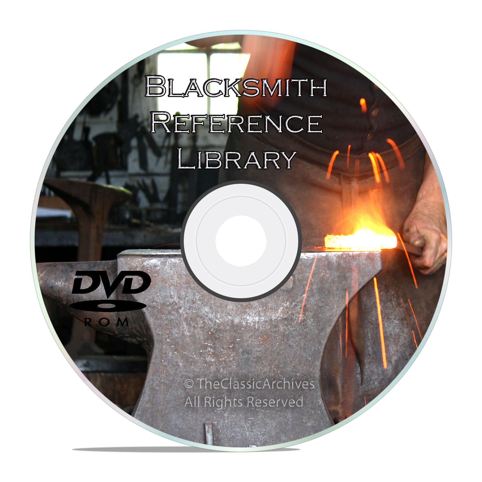 Classic Blacksmith Reference Books DVD, Learn About Forging, Iron Working