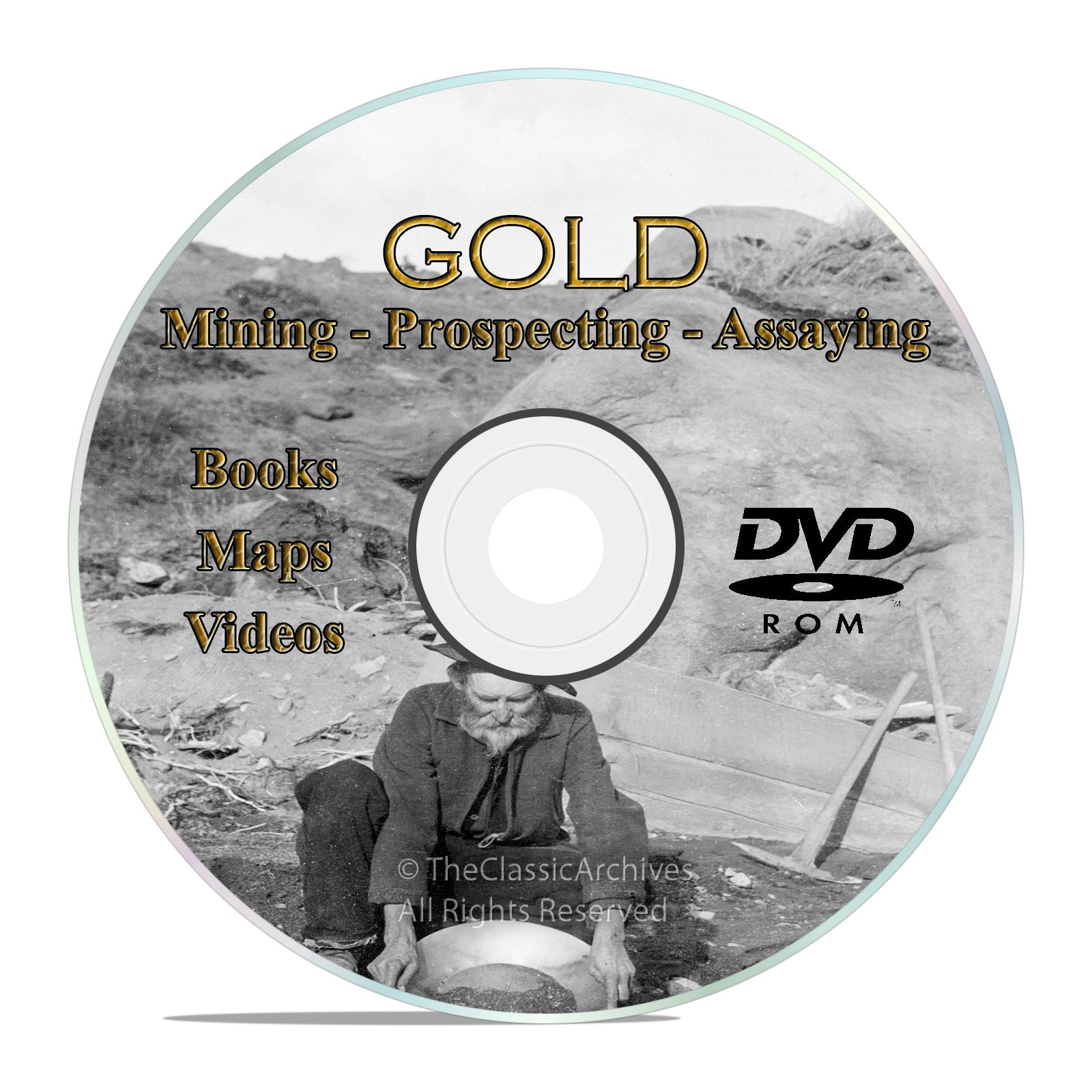 Gold Prospecting Mining Books, Assaying, Refining, Melting, Metallurgy, DVD