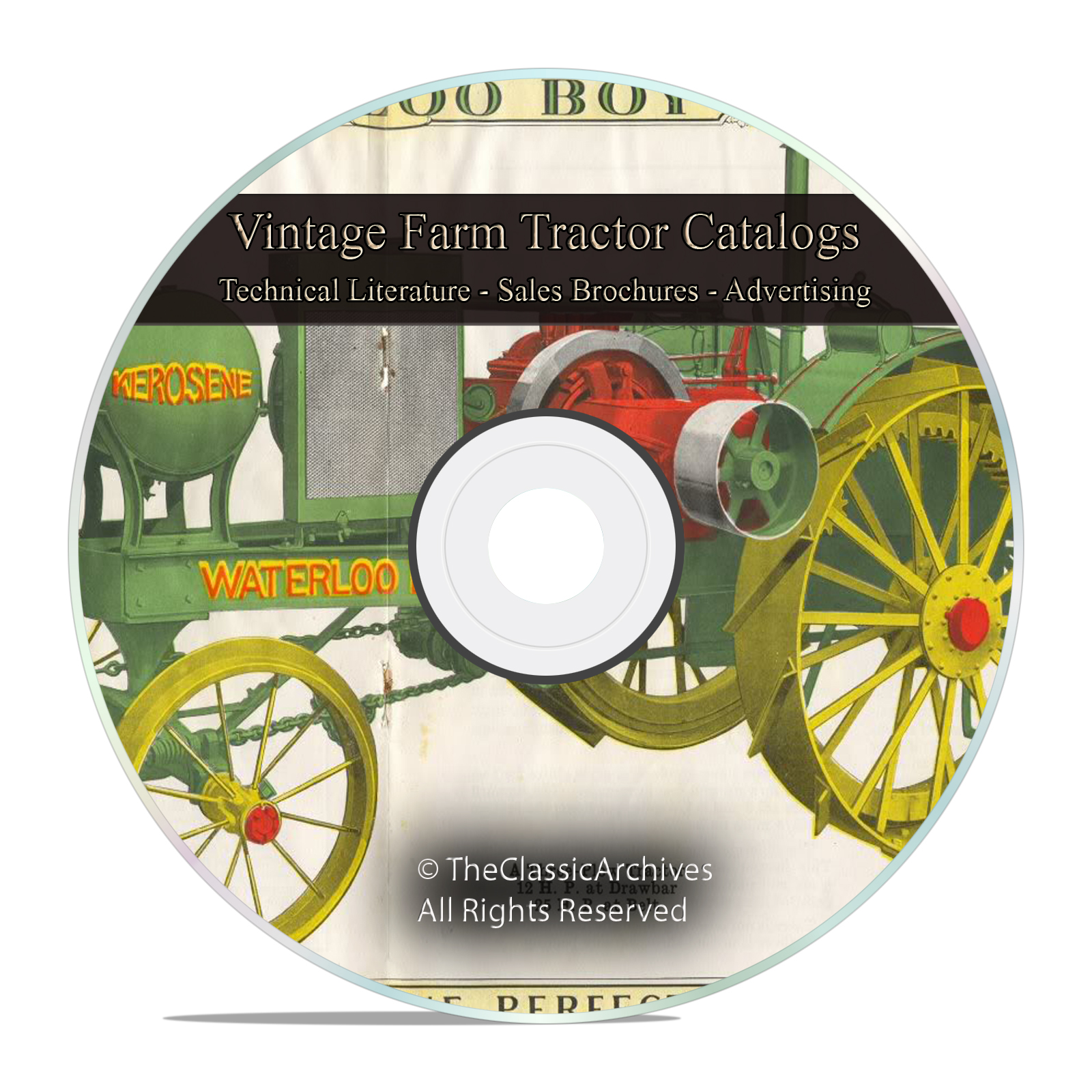 Farm Tractor Catalog, Massey Harris, Twin City, Rumely, IHC Tractors, DVD
