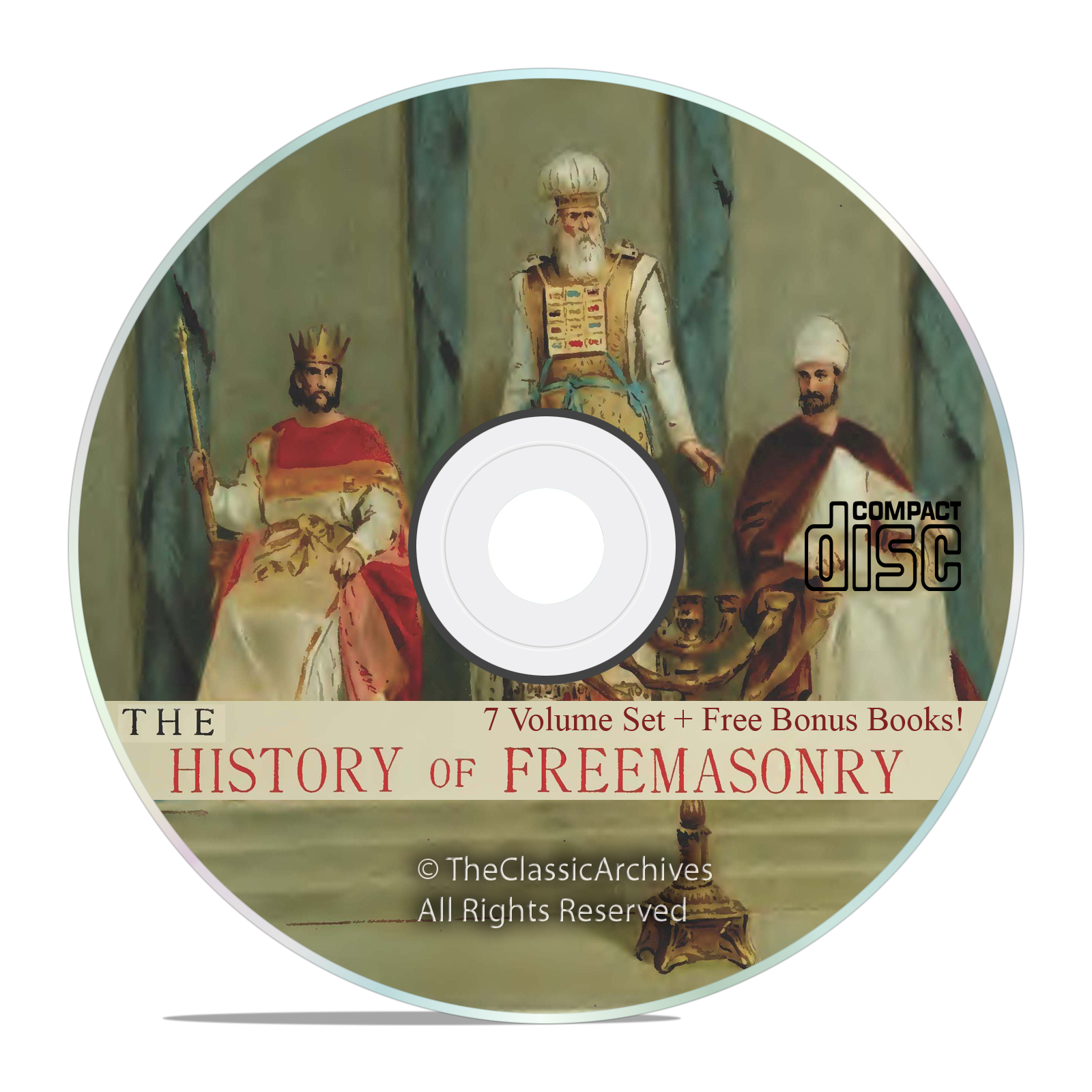 The History of Freemasonry, 7 Volumes, Freemason Lodge Arcane History on CD