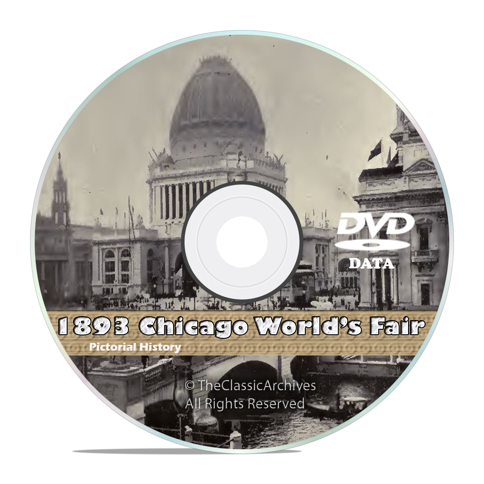 Chicago World's Fair 1893, Columbian Exposition, 50+ Vintage Books Vids DVD