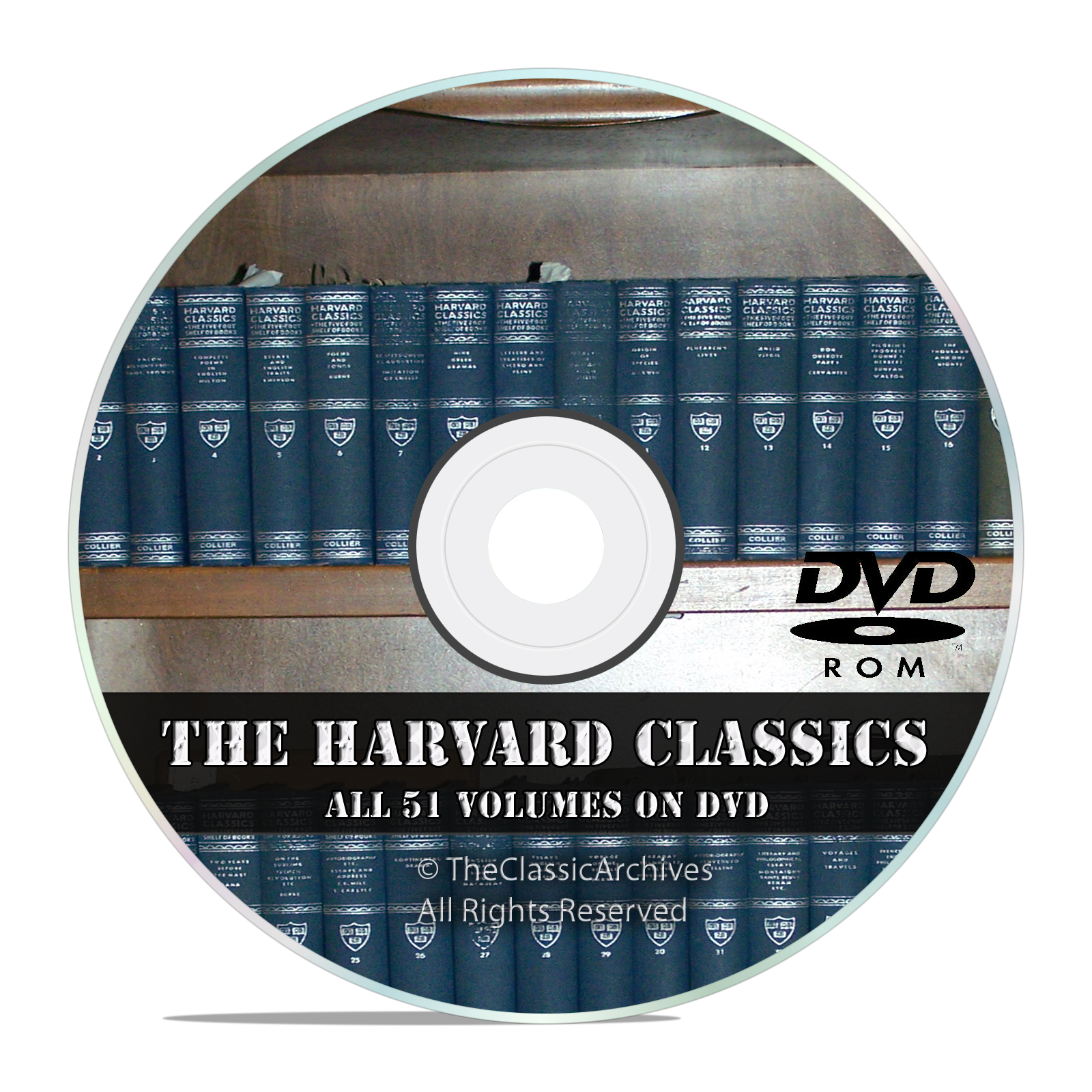 The Harvard Classics, All 51 Volumes, in PDF + DVJU, Vintage Novels on DVD