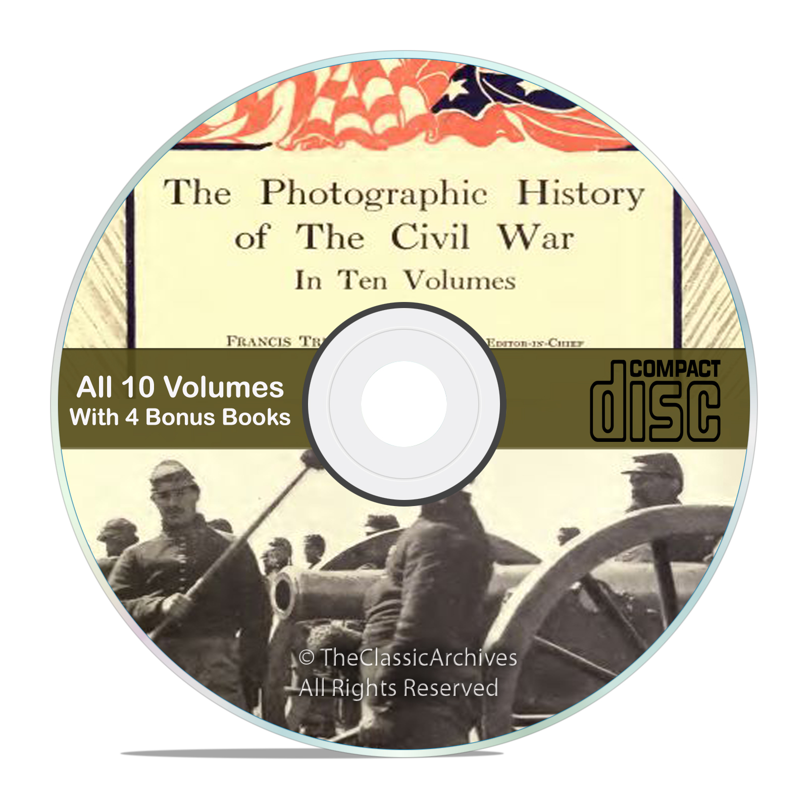 The Photographic History of the Civil War, 10 vol. set, pics, Books on CD