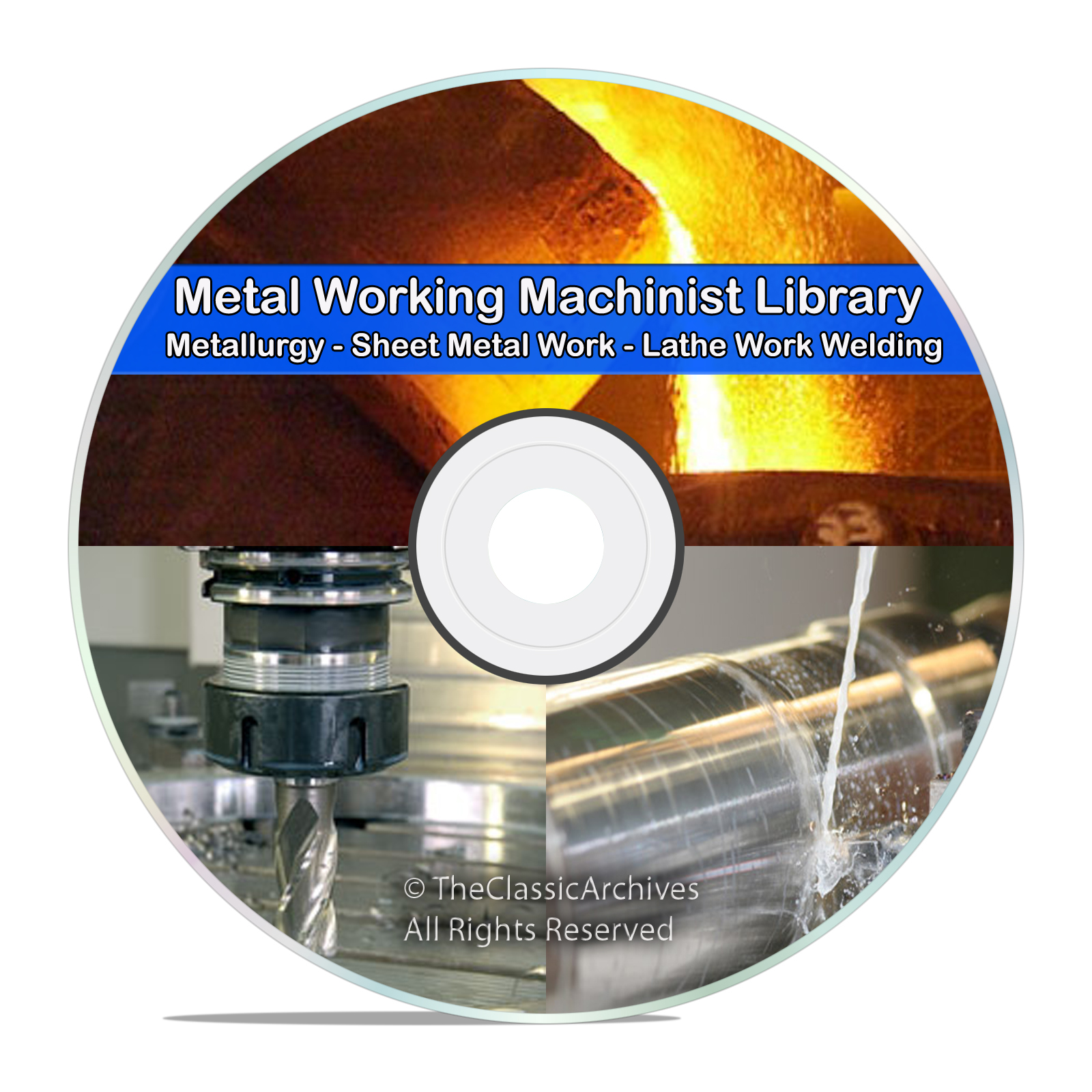 Machinist Lathe Metal Working Welding Foundry Blacksmith Metallurgy CD DVD