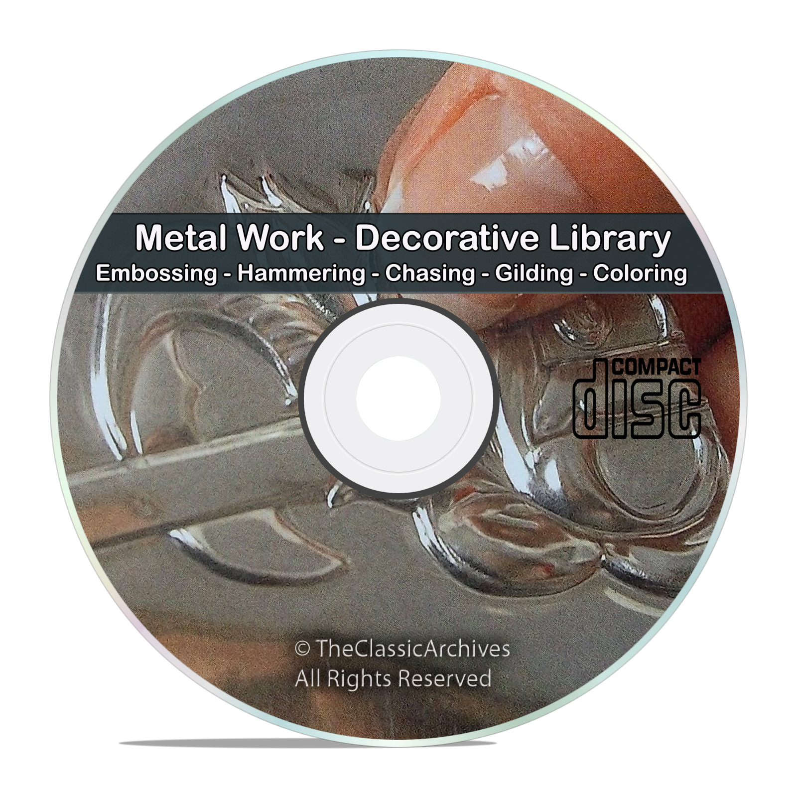Decorative and Art Metal Work Embossing Hammering Repousse Books CD