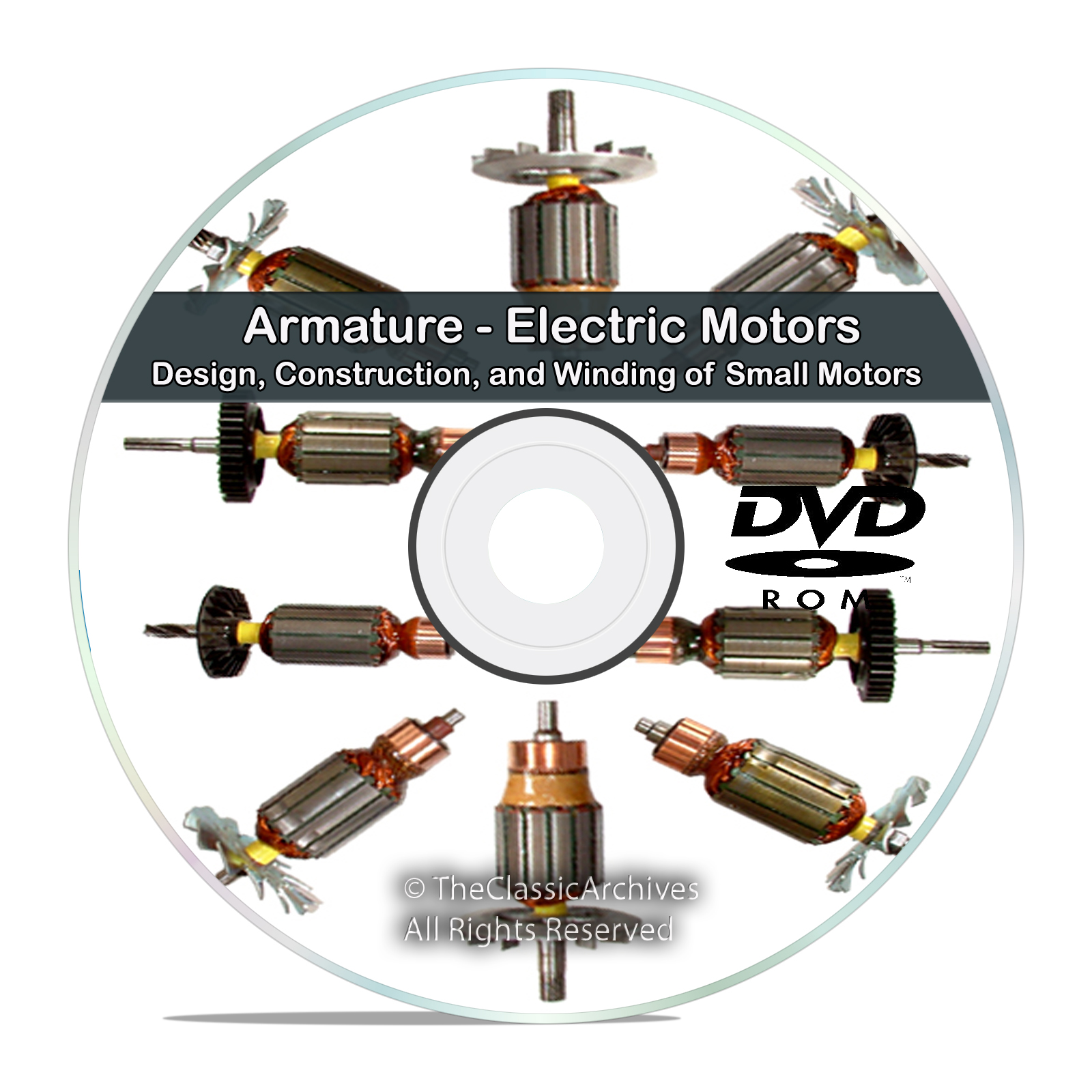 Armature Electric Motors Design Construction and Winding Reference Books CD