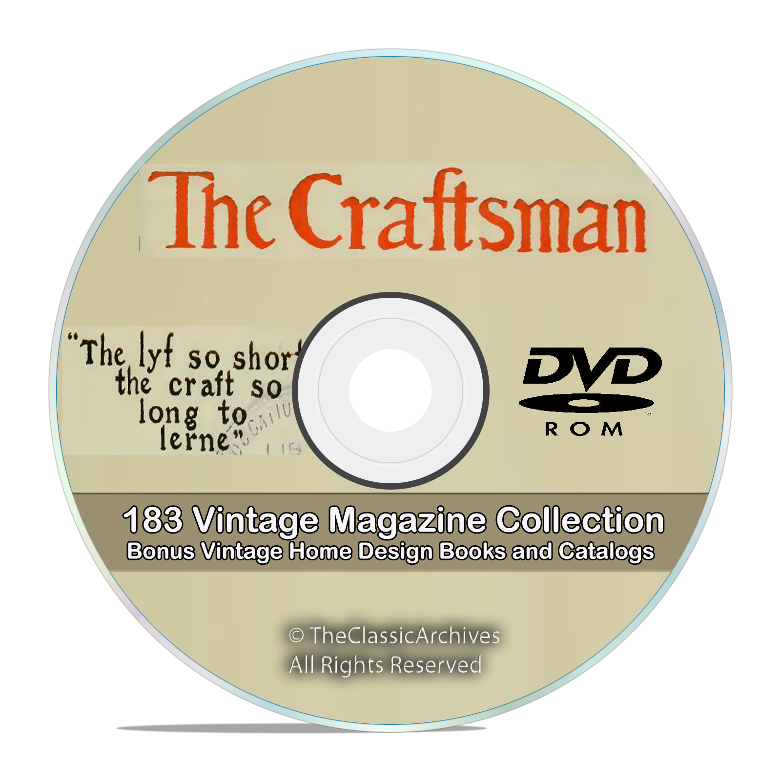 The Craftsman Magazine 183 Issue Collection, Gustav Stickley House Plan DVD