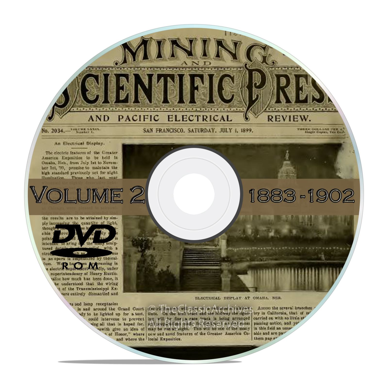 Vintage Mining and Scientific Press, 1883 - 1902, 1000 Back Issues Vol2 DVD