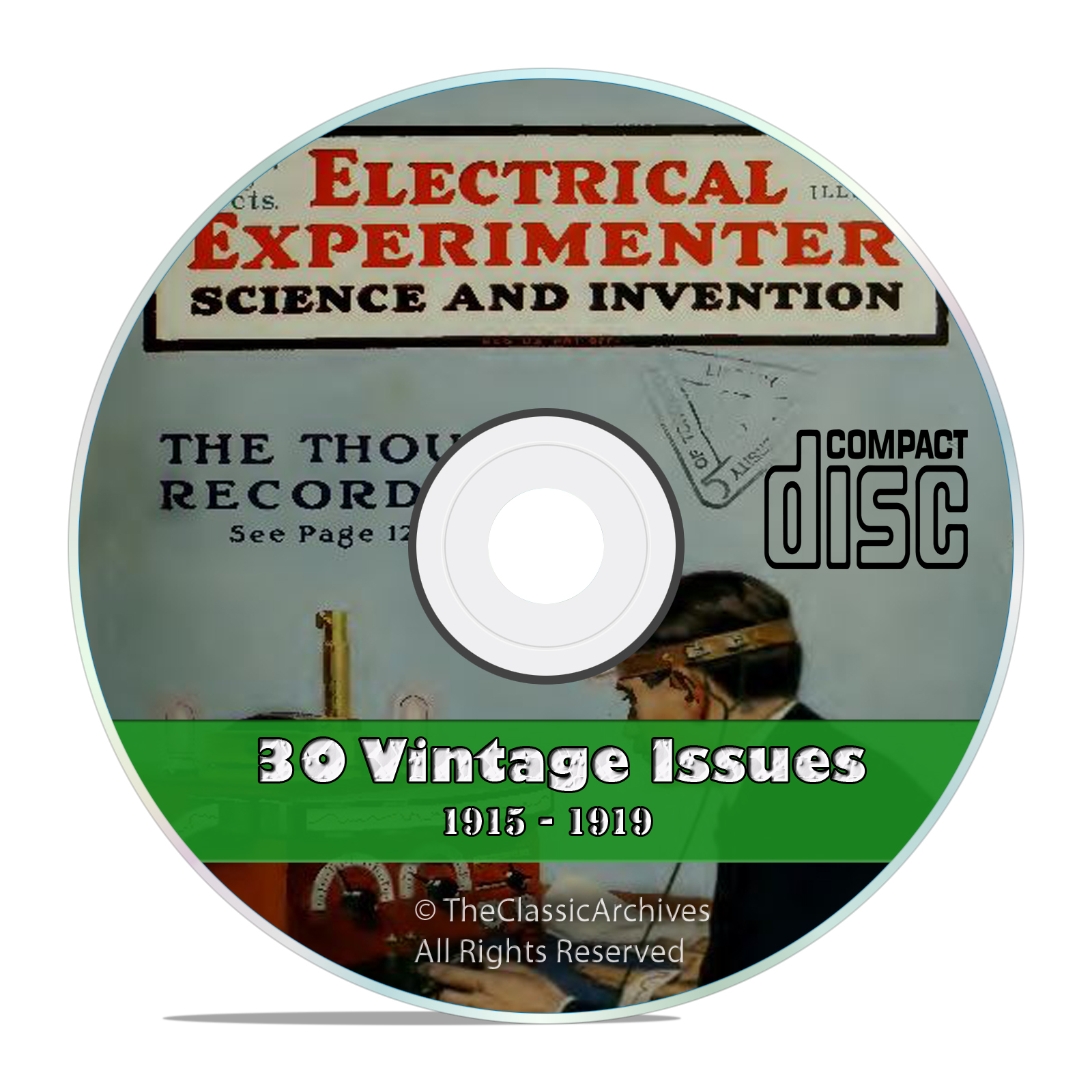 The Electrical Experimenter 81 Vintage Issues Collection from 1915-1922 DVD