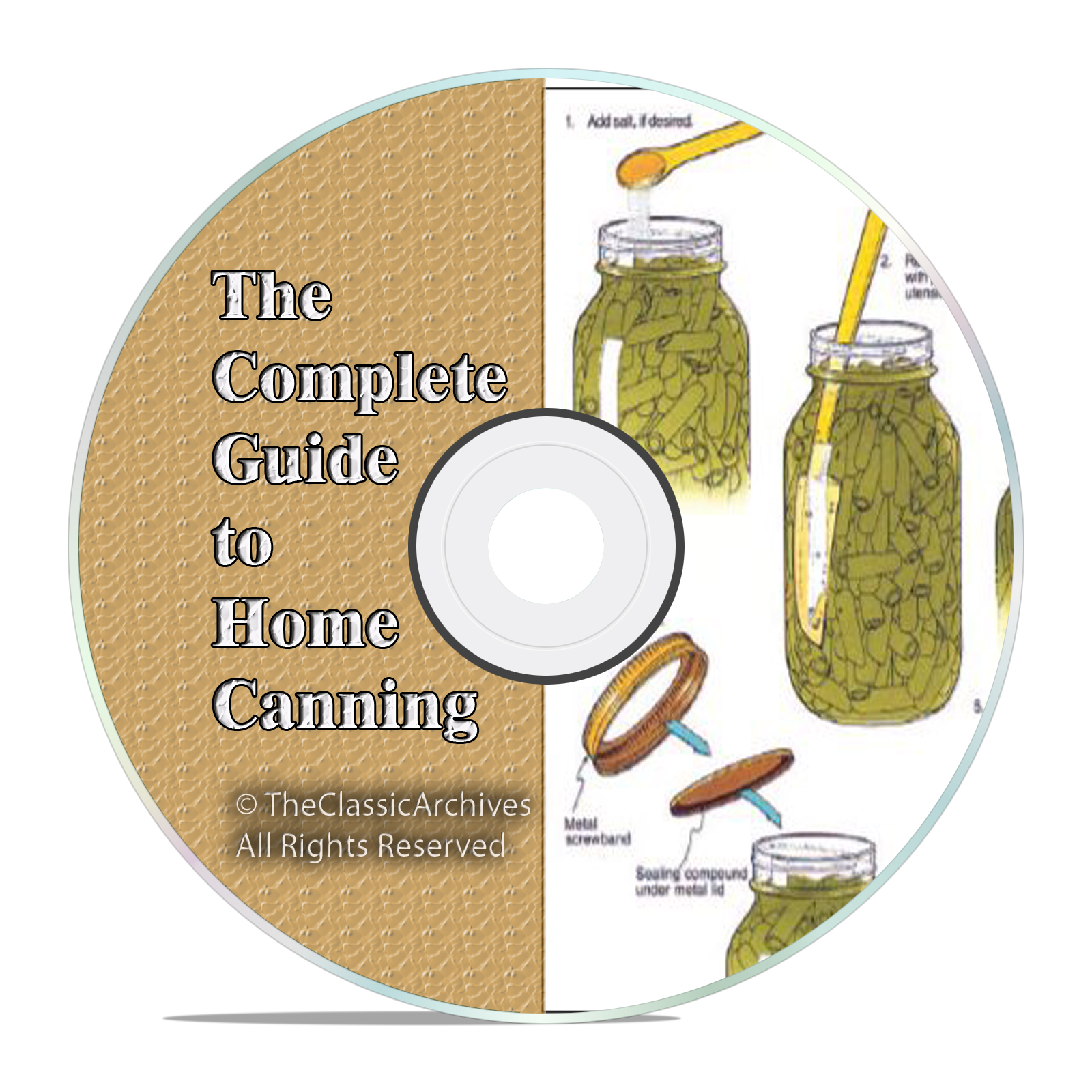 Home Canning Food Vegetables Preserving Jars Recipes, over 130+ Books, DVD