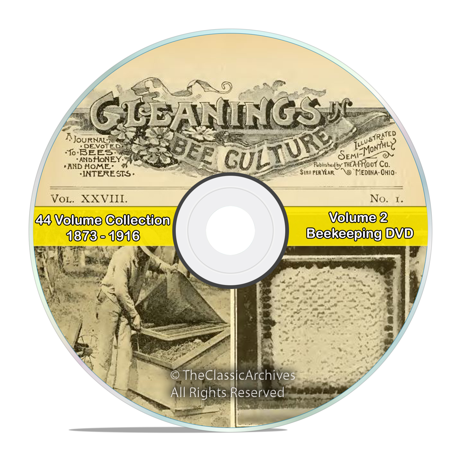 Gleanings of Bee Culture, 44 Volume 1873-1916, Honey Beekeeping Journal