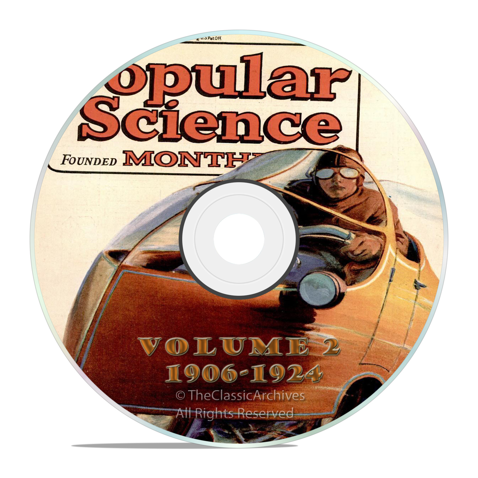Vintage Popular Science Magazine, Volume 2 DVD, 1906-1924, 206 issues