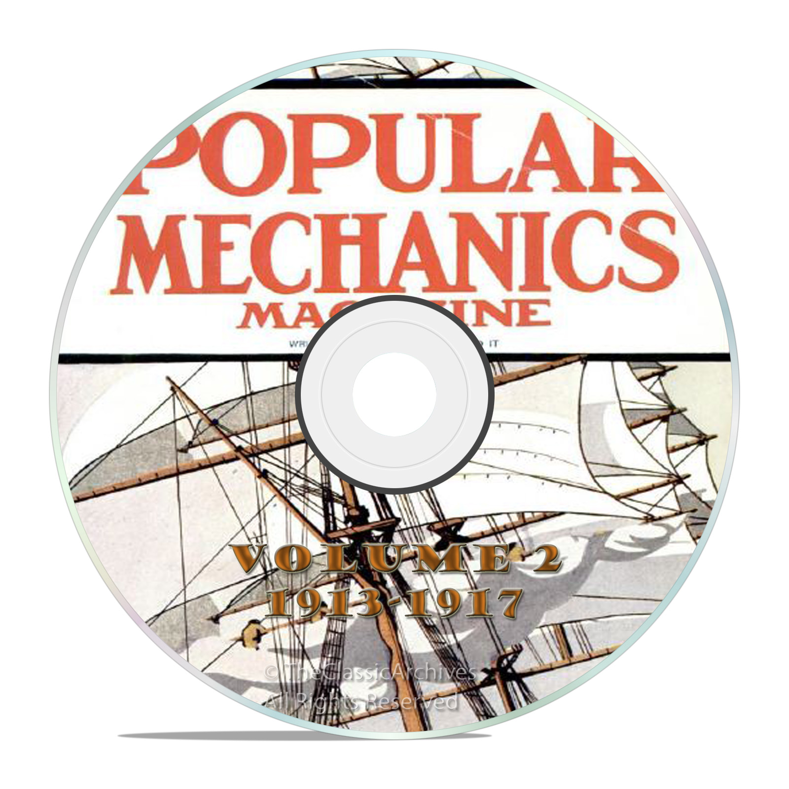 Vintage Popular Mechanics Magazine, Volume 2 DVD, 1913-1917, 48 issues