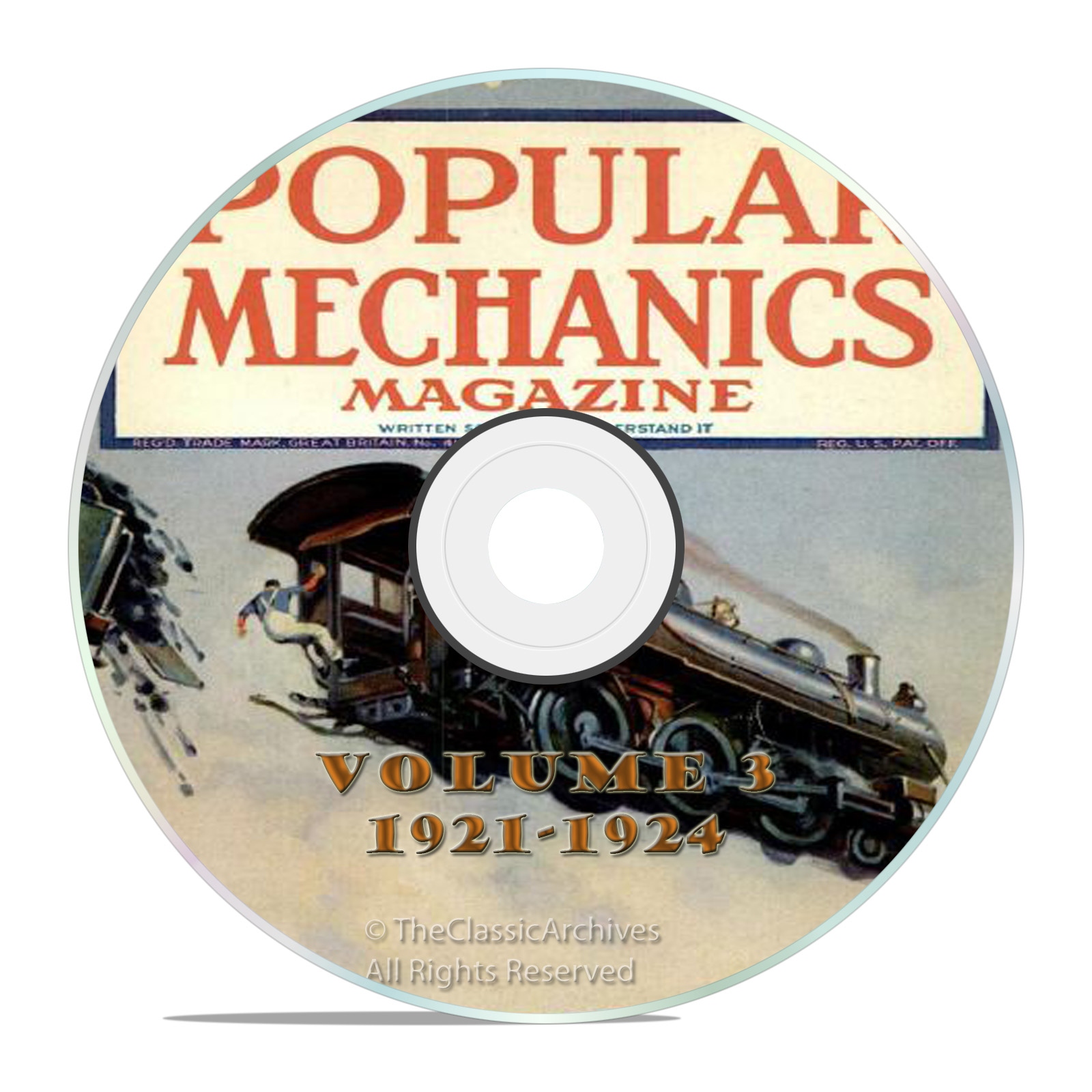 Vintage Popular Mechanics Magazine, Volume 3 DVD, 1921-1924. 44 issues
