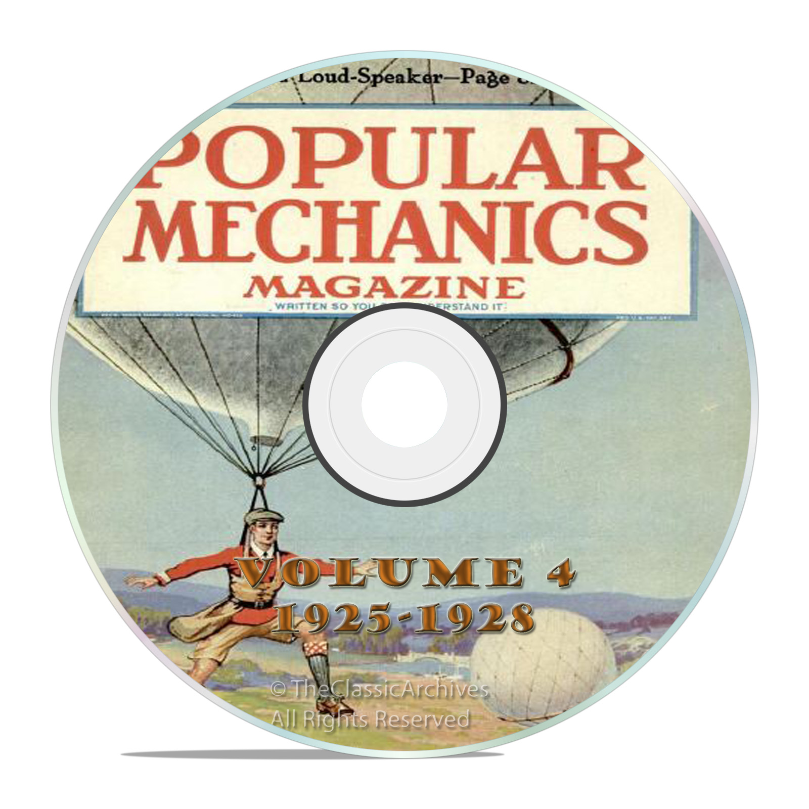 Vintage Popular Mechanics Magazine, Volume 4 DVD, 1925-1928, 46 issues