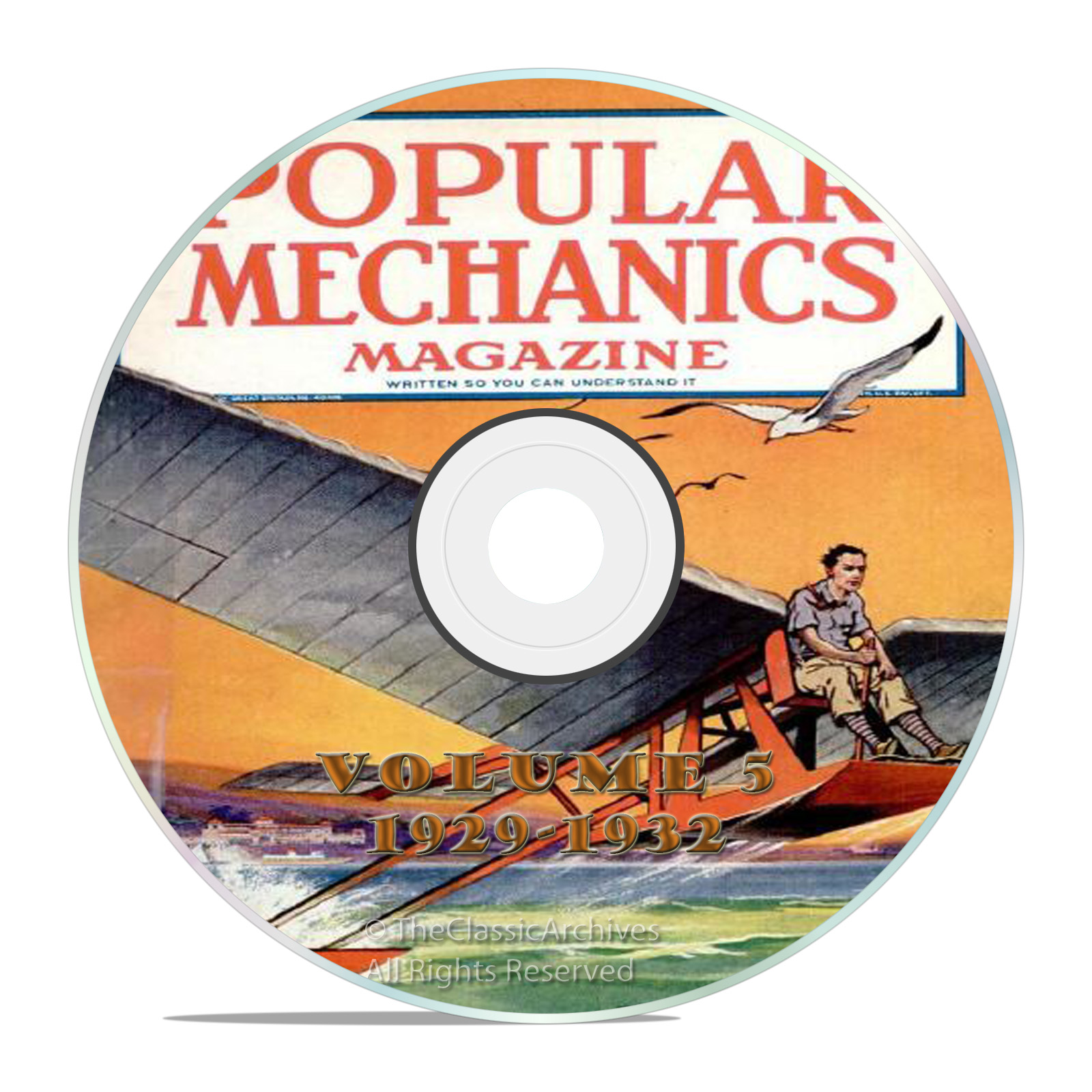 Vintage Popular Mechanics Magazine, Volume 5 DVD, 1929-1932, 37 issues