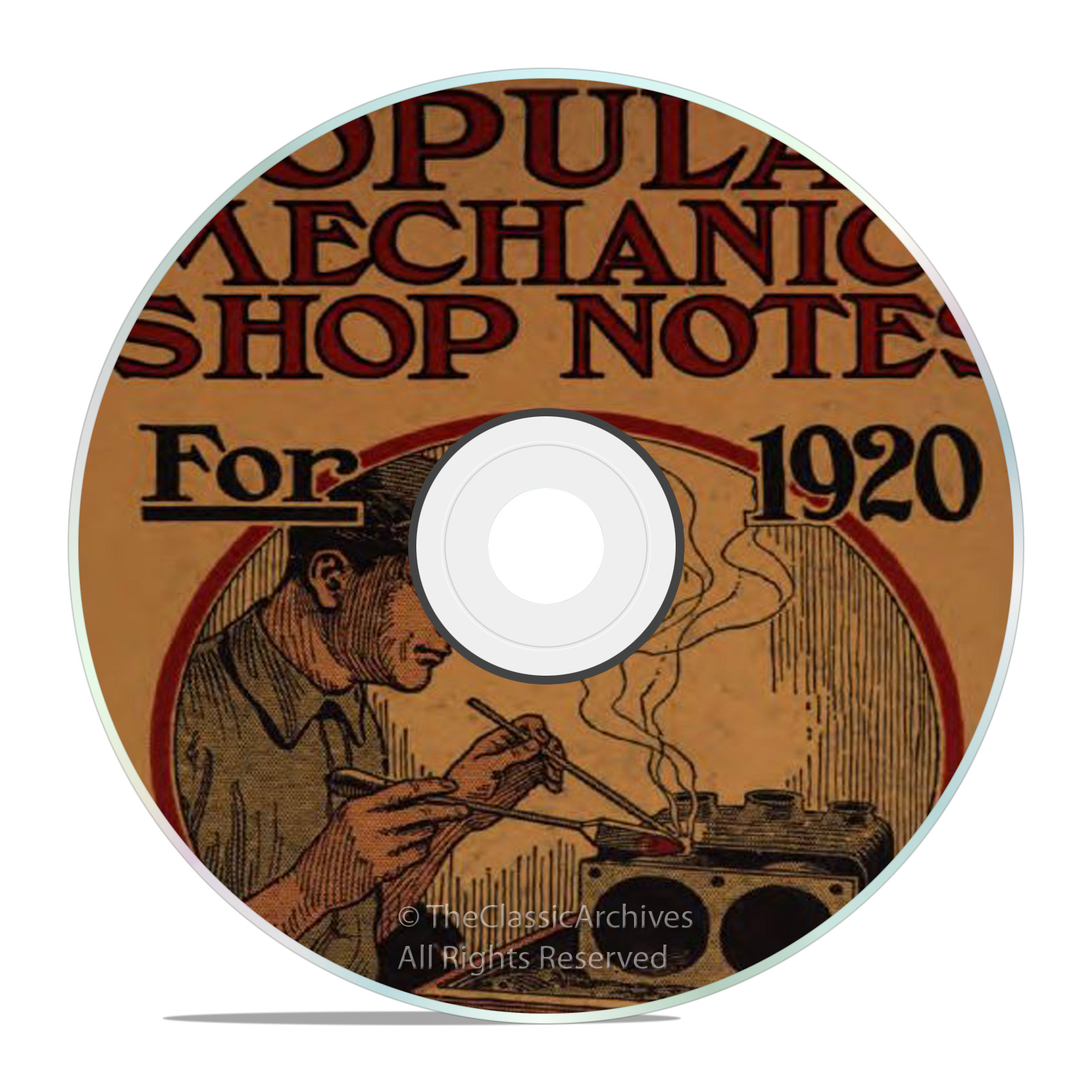 Vintage Popular Mechanics Shop Notes, 1905-21, 12 Classic Magazine Issues