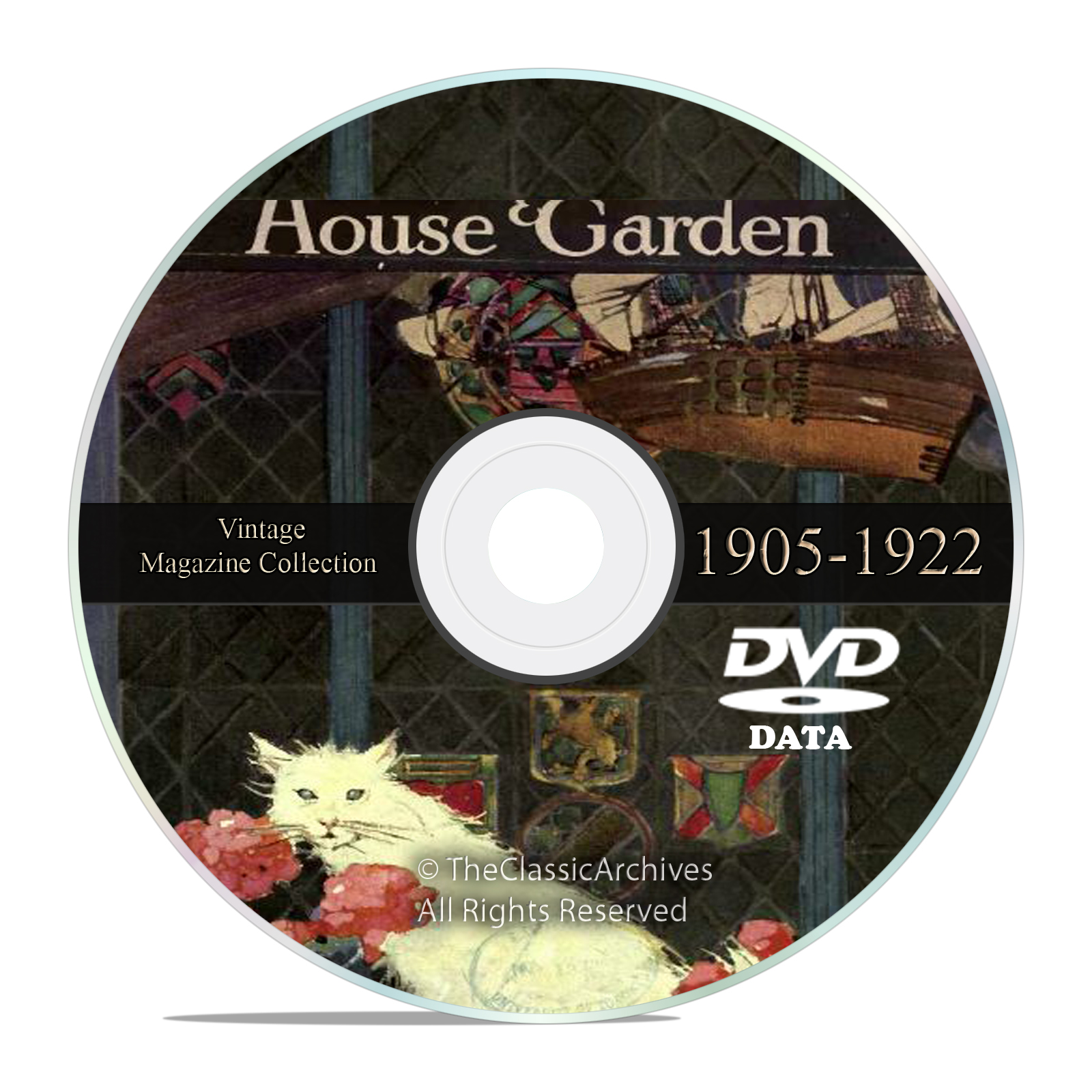 Vintage House and Garden Magazine, 1905-1922, Victorian Home Design DVD