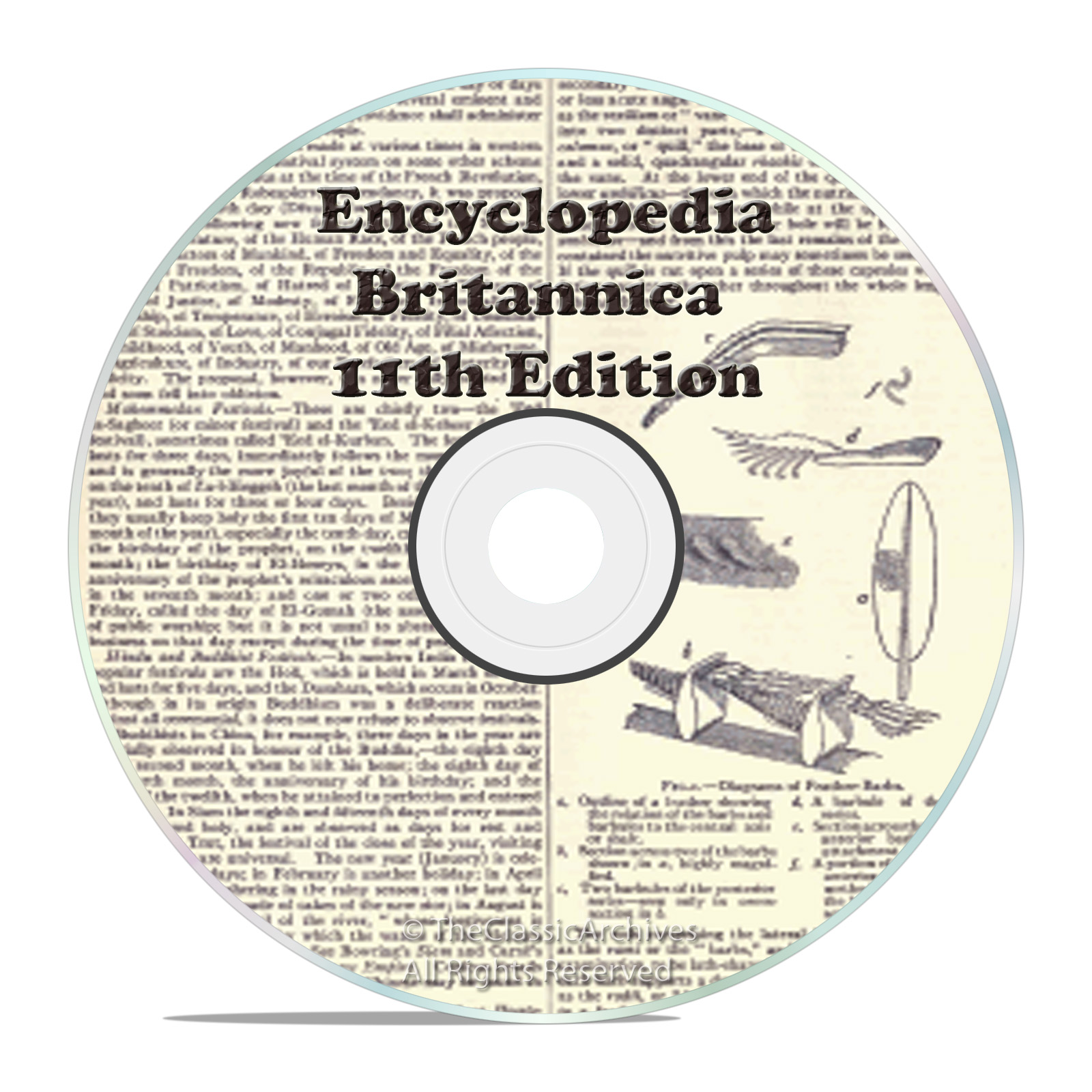 1911 11th Edition of Encyclopedia Britannica on one DVD - Snail Mail