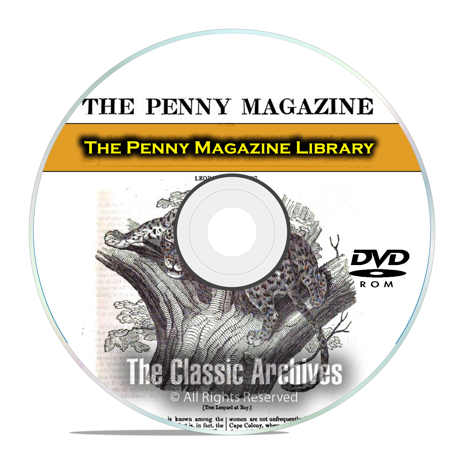 The Penny Magazine, 884 Issues, Useful Knowledge 30 Vol Cyclopaedia PDF DVD - Click Image to Close