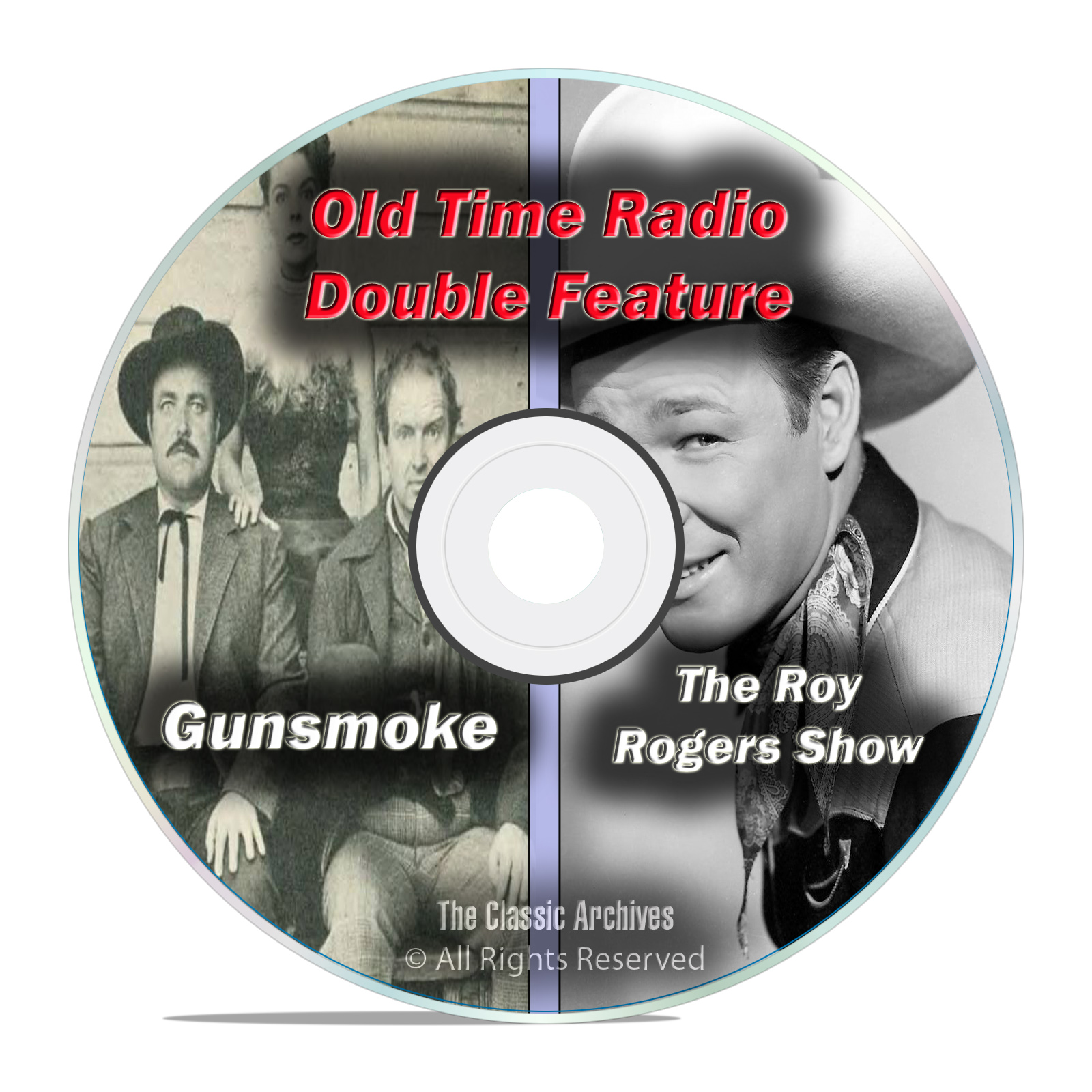 Gunsmoke + Roy Rogers, ALL 603 KNOWN Shows, Western Old Time