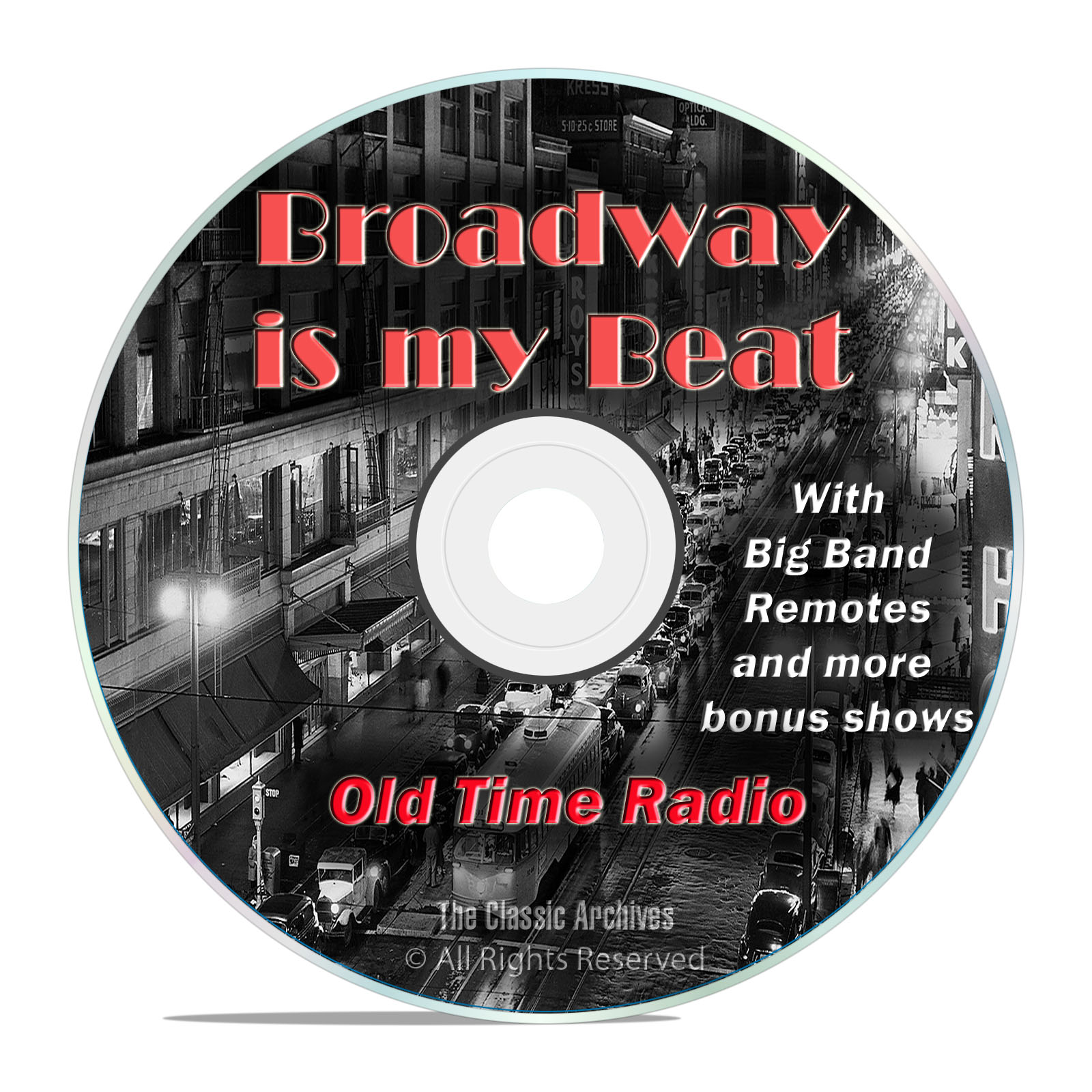 Broadway is my Beat, 759 Episodes Old Time Radio Police + Music OTR DVD MP3