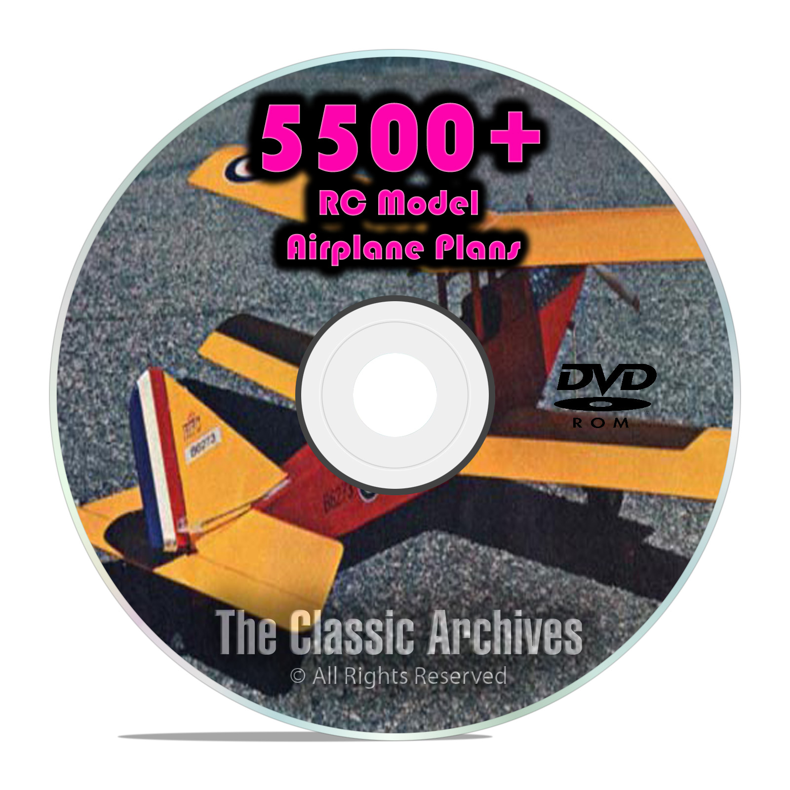 5,500 RC Model Airplane Plans, Gliders, Electric, Scale, Templates PDF DVD