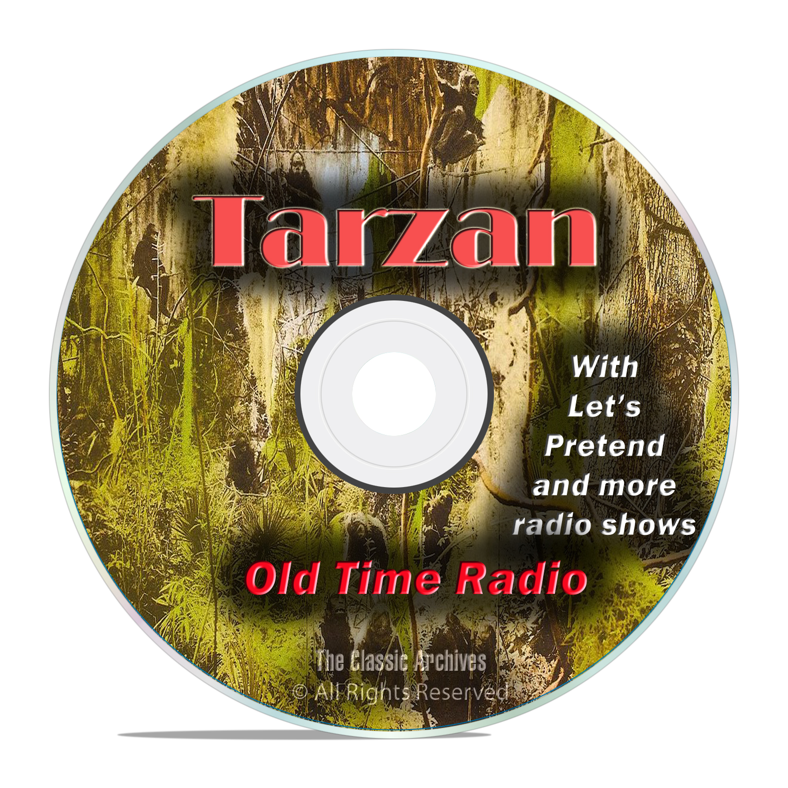 Tarzan Series, Apes, Jungle, Tohr, 1,173 Old Time Radio Action Episodes DVD