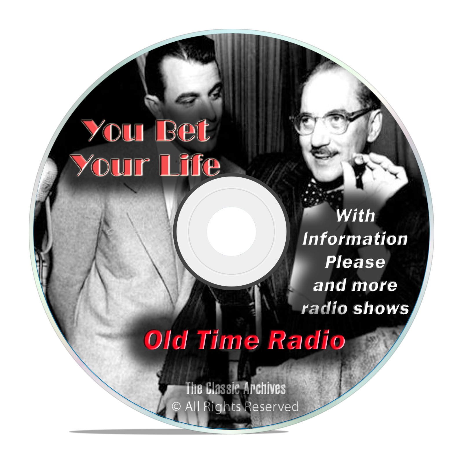You Bet Your Life, 776 Old Time Radio Quiz, Game Shows Broadcasts mp3 DVD - Click Image to Close