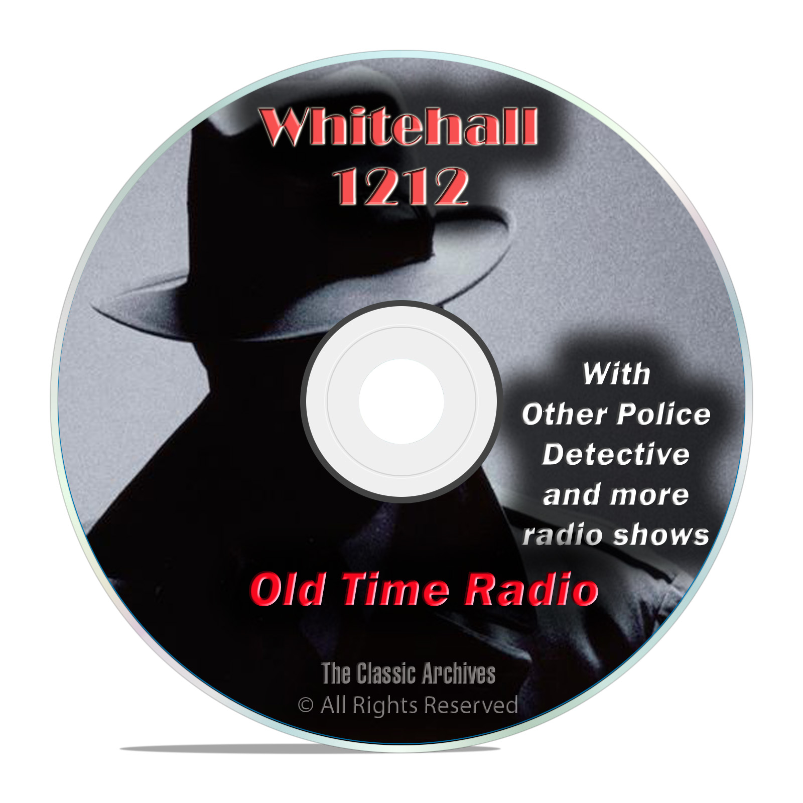 Whitehall 1212, 1,486 Old Time Radio Police Detective Crime Drama Shows DVD