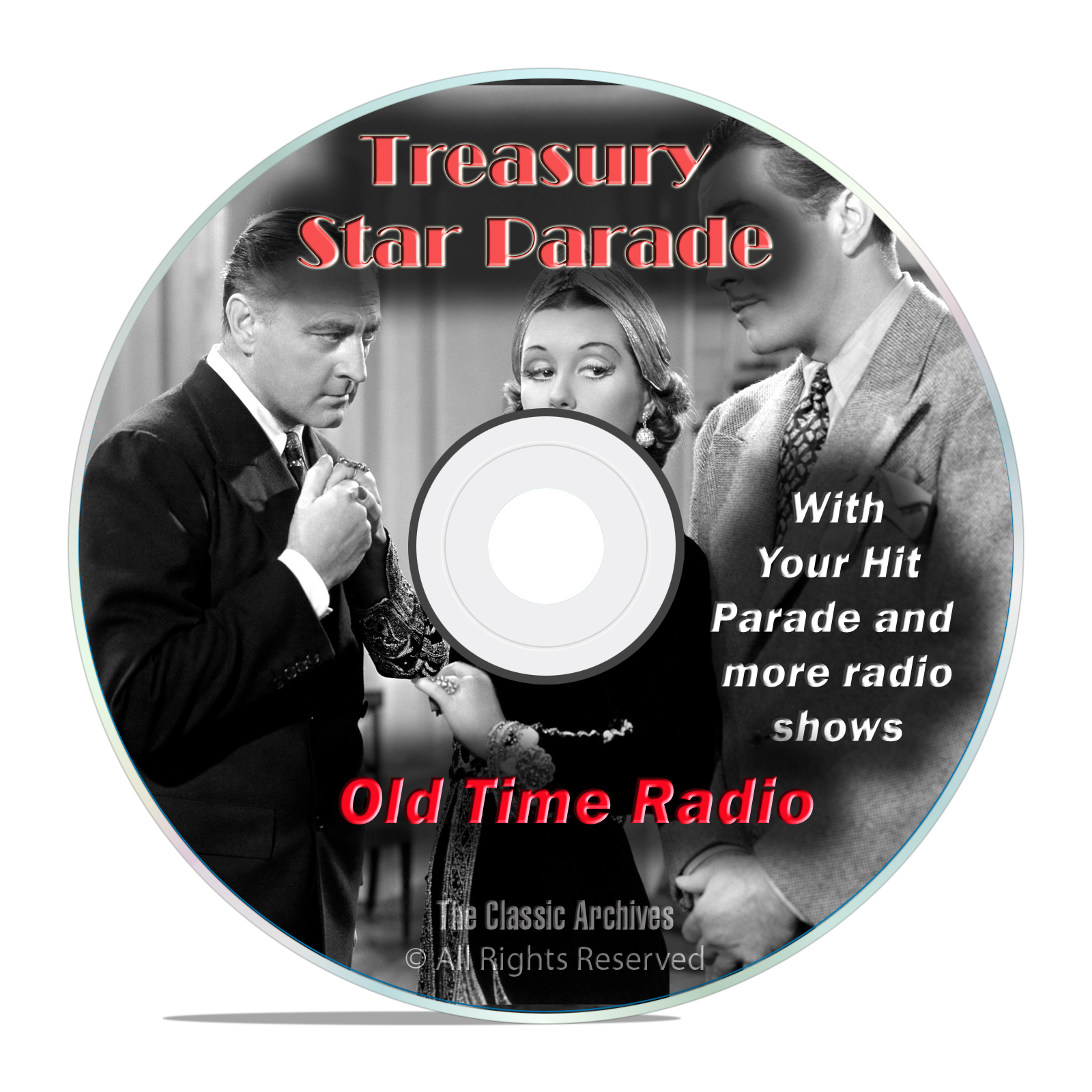Treasury Star Parade, 997 Old Time Radio Music, Country, Western Shows DVD - Click Image to Close
