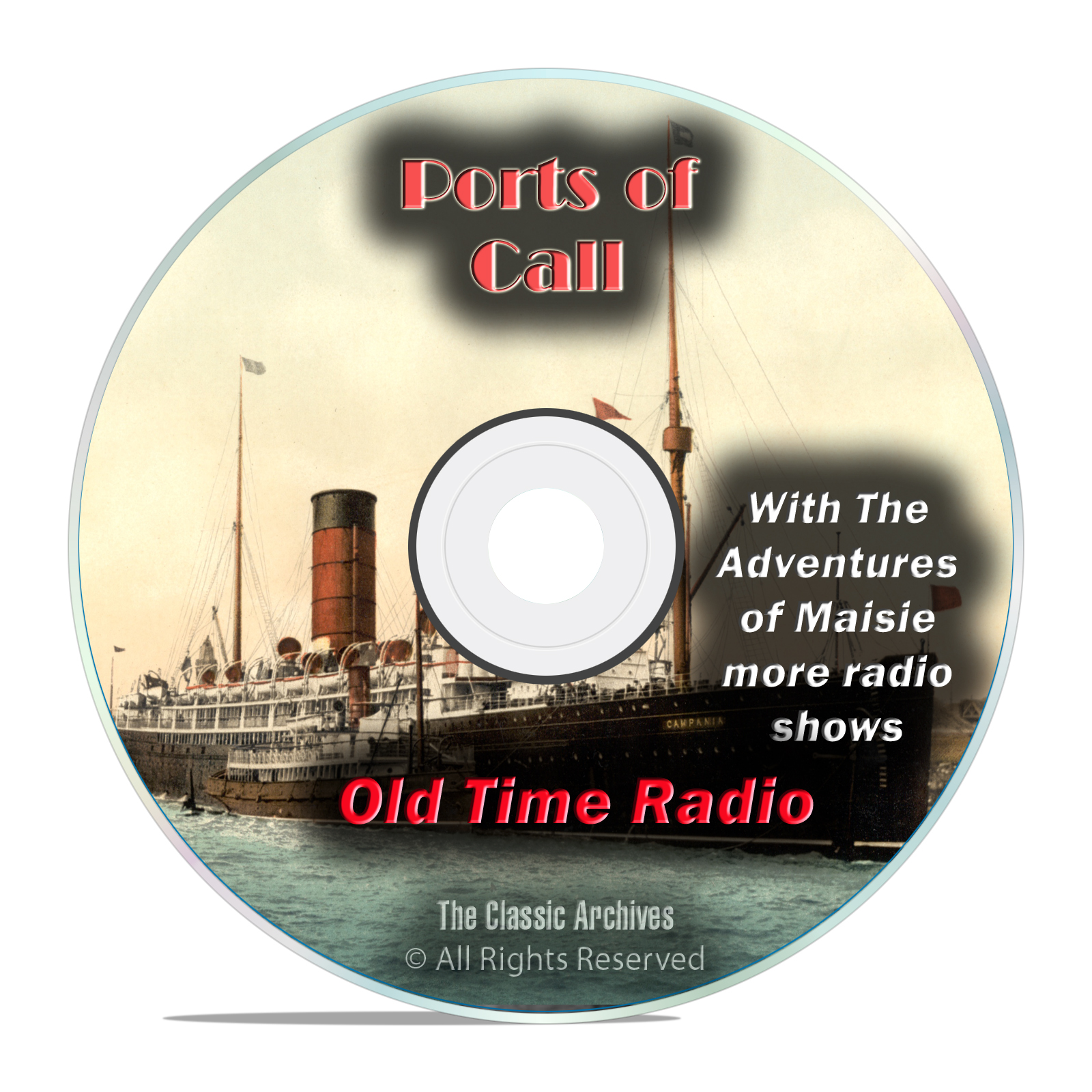 Ports of Call, 511 Old Time Radio, World History Drama Shows, mp3 DVD