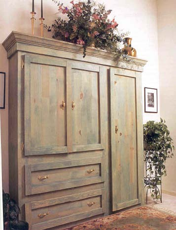 Rustic armoire wood furniture plan immediate download for Wardrobe cabinet design woodworking plans