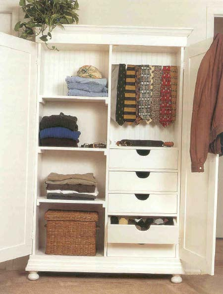 Country Armoire, Wood Furniture Plan, IMMEDIATE DOWNLOAD : Shed