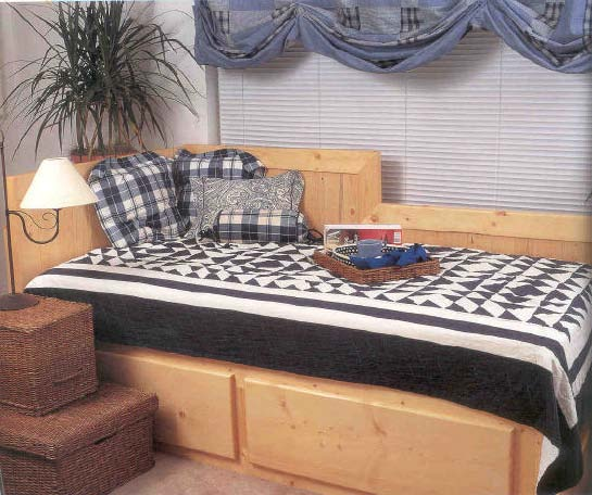 Day Bed, Wood Furniture Plans, IMMEDIATE DOWNLOAD