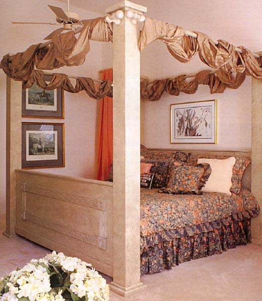 Faux Poster Bed, Wood Furniture Plans, IMMEDIATE DOWNLOAD