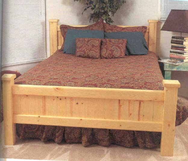 Pine Bed, Wood Furniture Plans, IMMEDIATE DOWNLOAD