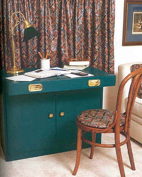 Desk Cabinet, Wood Furniture Plans, IMMEDIATE DOWNLOAD
