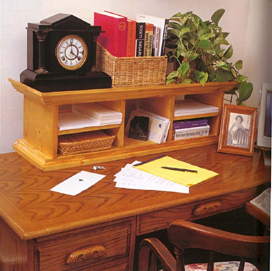 Elegant Desk Organizer, Wood Furniture Plans, IMMEDIATE DOWNLOAD