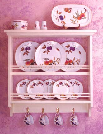 Plate Rack, Wood Furniture Plans, IMMEDIATE DOWNLOAD