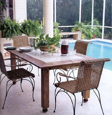 Lanai Dining Table, Wood Furniture Plans, IMMEDIATE DOWNLOAD